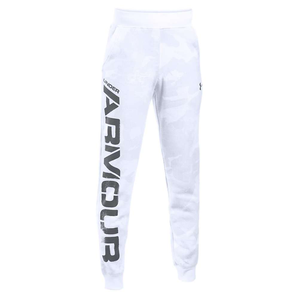 Under Armour Boys' Sportstyle Printed Jogger - Small - White / Graphite