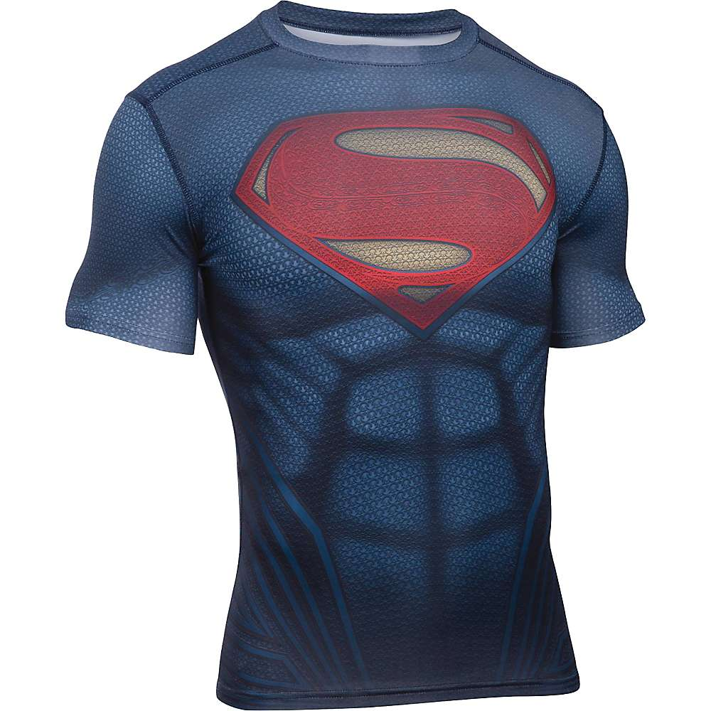 Under Armour Men's Superman Suit SS Tee - Medium - Midnight Navy / Red