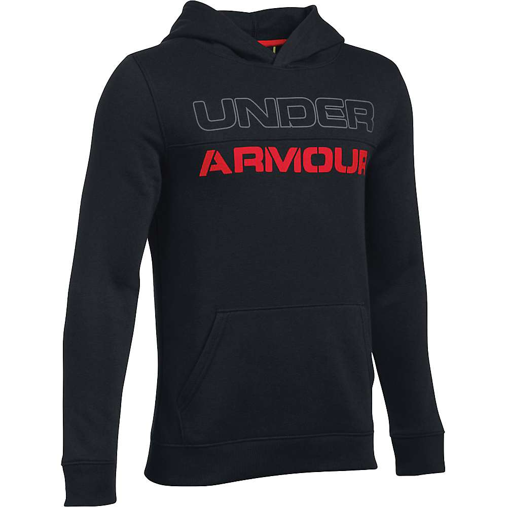 Under Armour Boys' Sportstyle Graphic Hoody - Small - Black / Black / Red