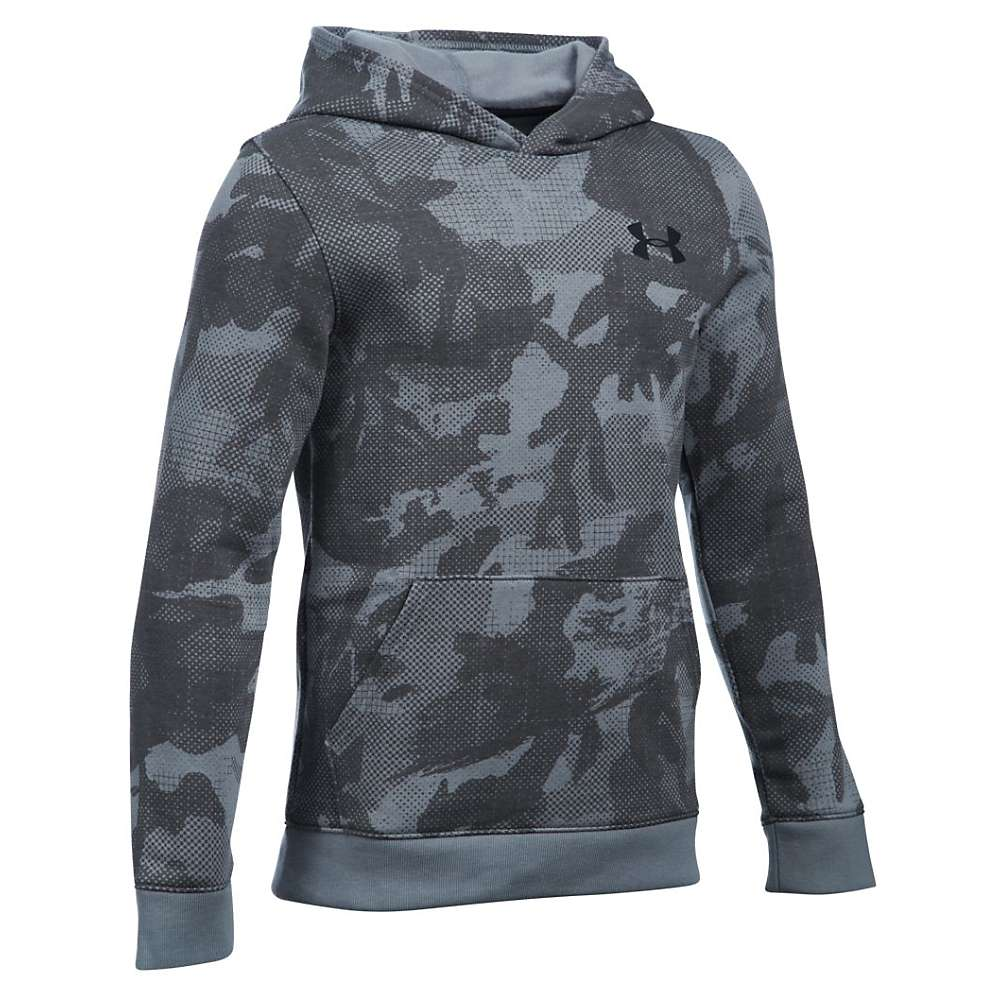 Under Armour Boys' Sportstyle Printed Hoody - Small - Steel / Black