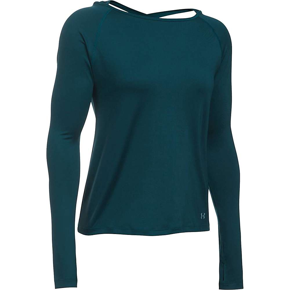 Under Armour Women's Swing Top - Small - Nova Teal / Carbon Heather