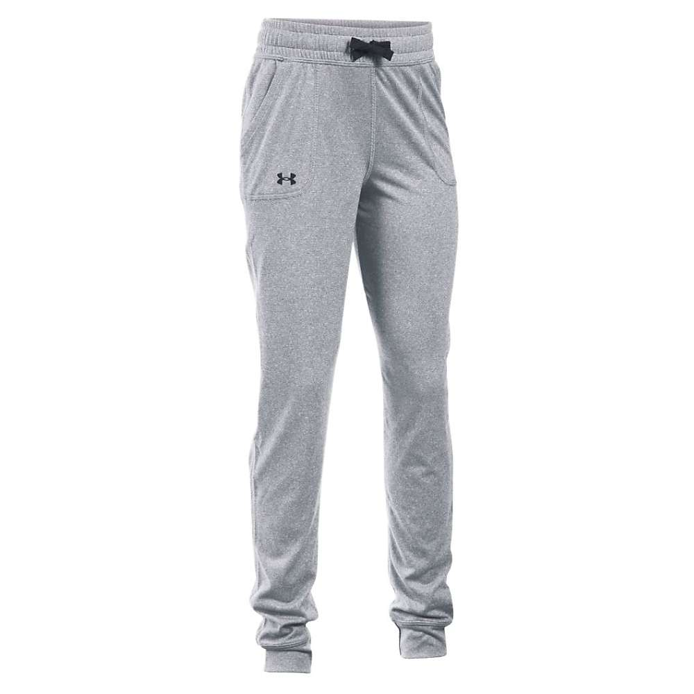 Under Armour Girls' Tech Novelty Jogger - XS - Stealth Gray / Black