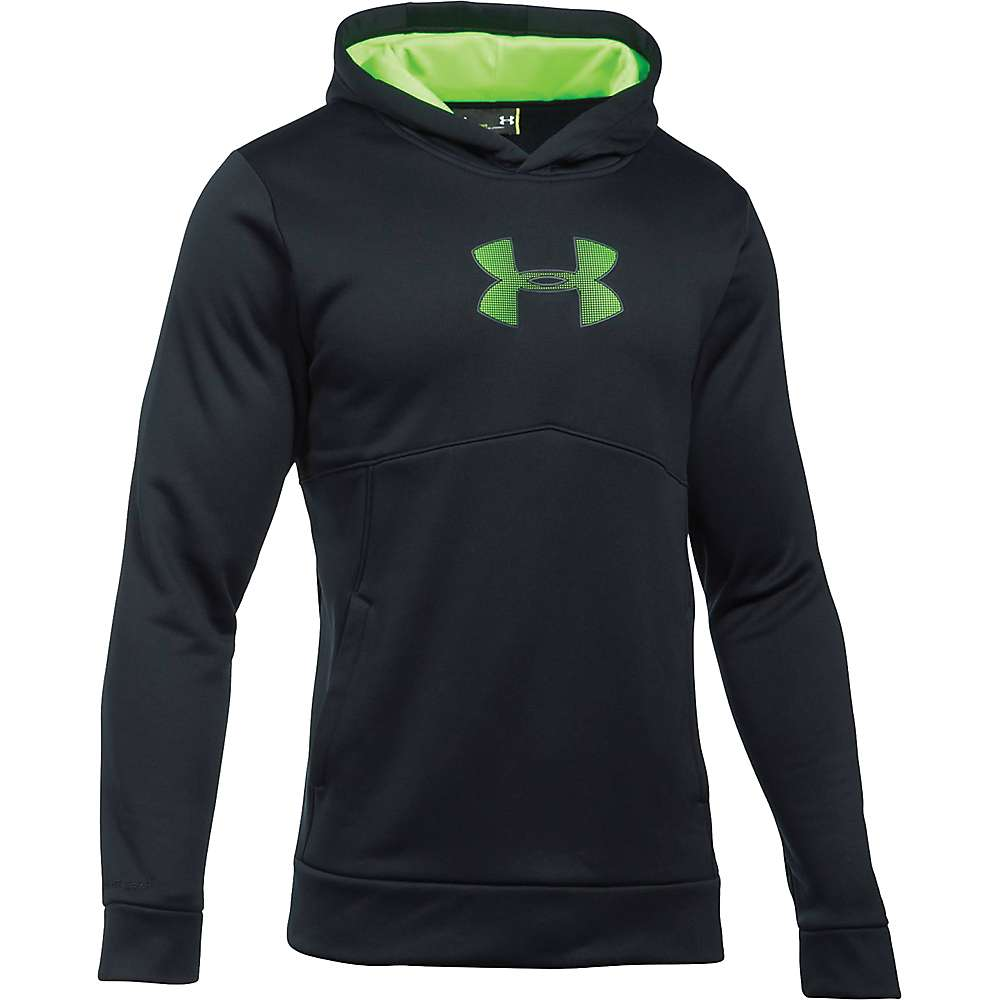 Under Armour Men's The New UA Logo Hoodie - XXL - Black / Hyper Green / Hyper Green