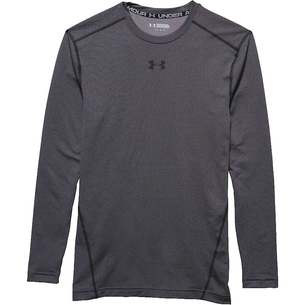 Under Armour Men's UA ColdGear Armour Crew Top - Small - Carbon Heather / Black