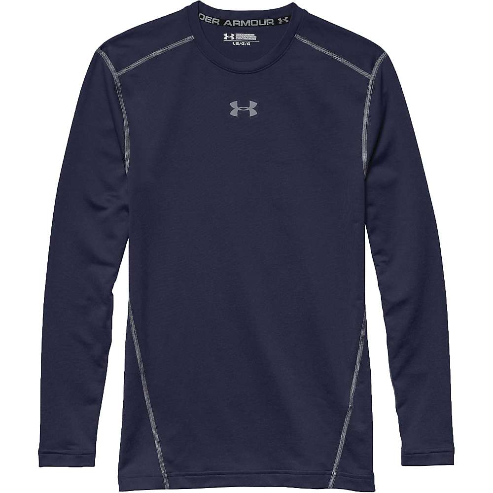 Under Armour Men's UA ColdGear Armour Crew Top - XL - Midnight Navy / Steel