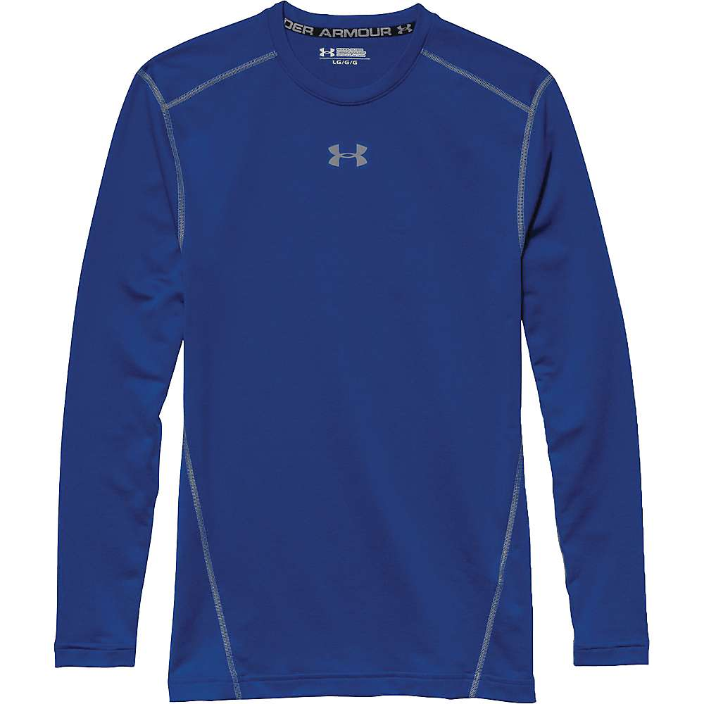 Under Armour Men's UA ColdGear Armour Crew Top - XL - Royal / Steel