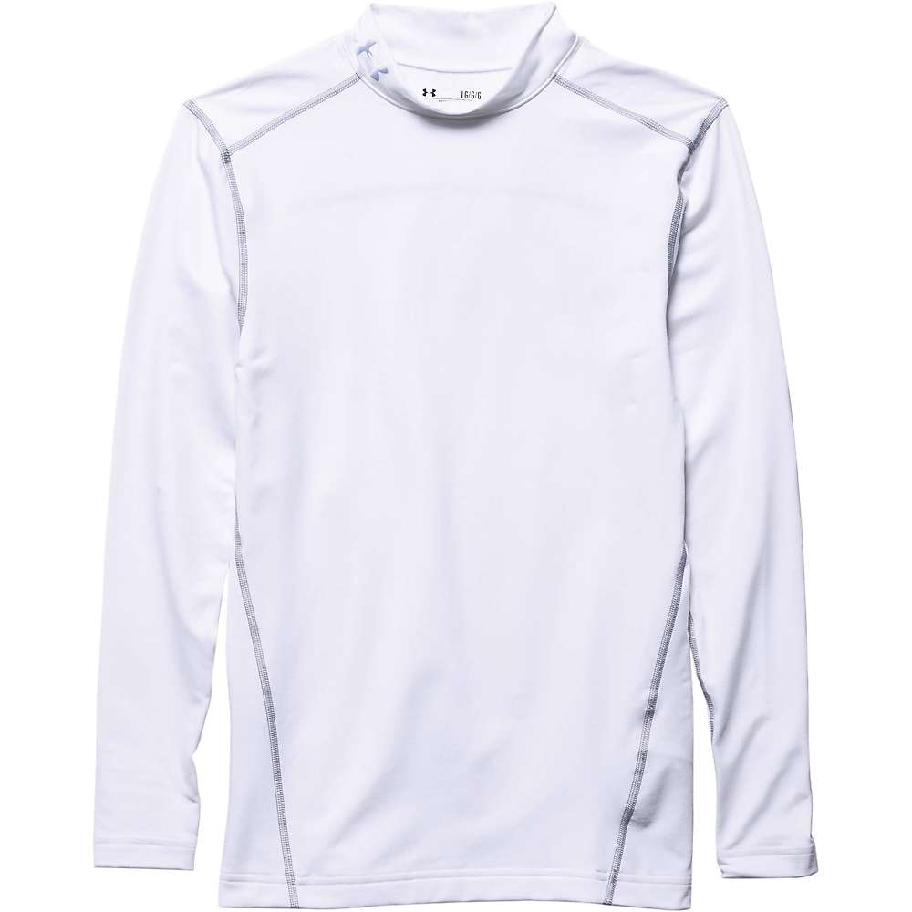 Under Armour Men's UA ColdGear Armour Mock Neck Top - XS - White / Steel