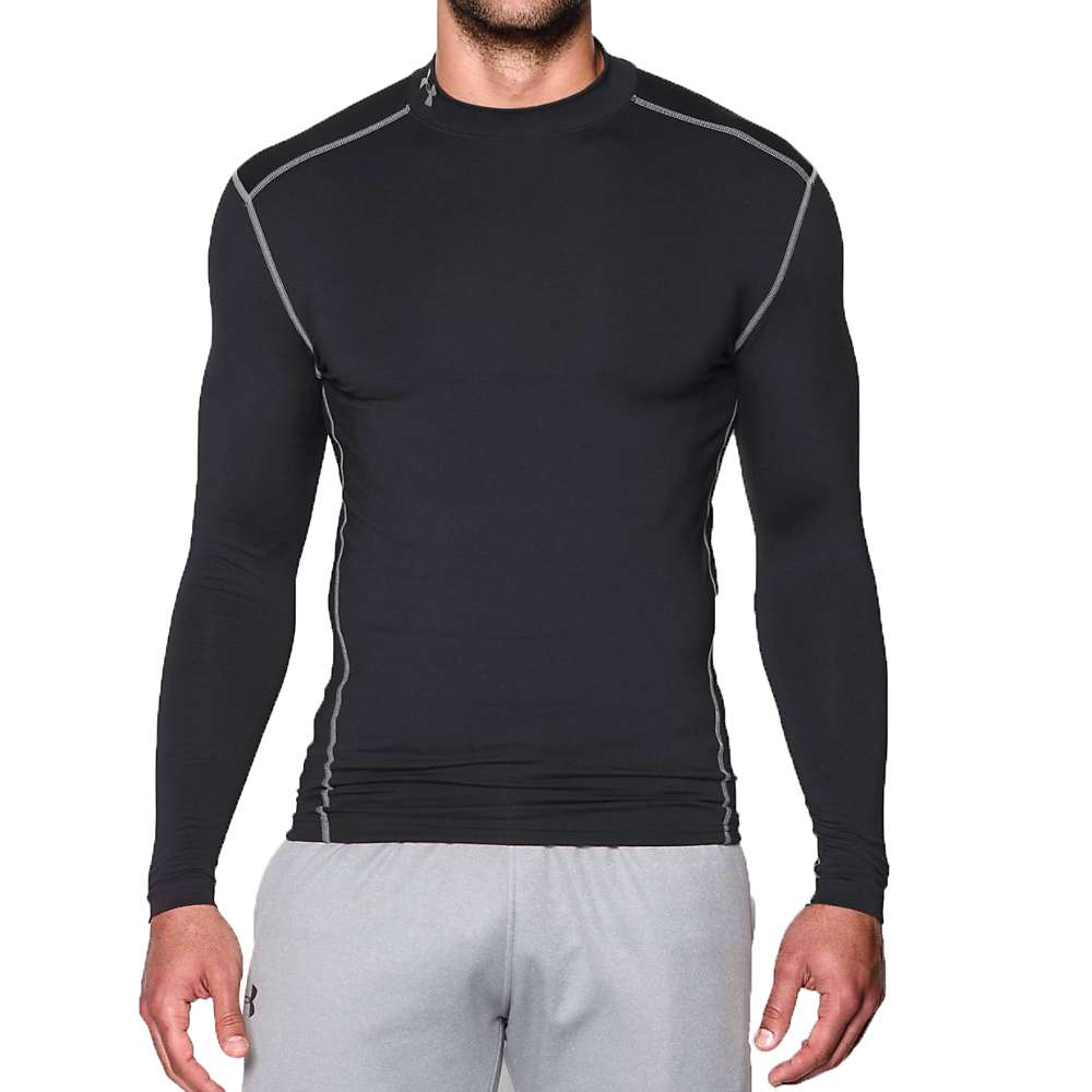 Under Armour Men's UA ColdGear Armour Mock Neck Top - XL - Black / Steel
