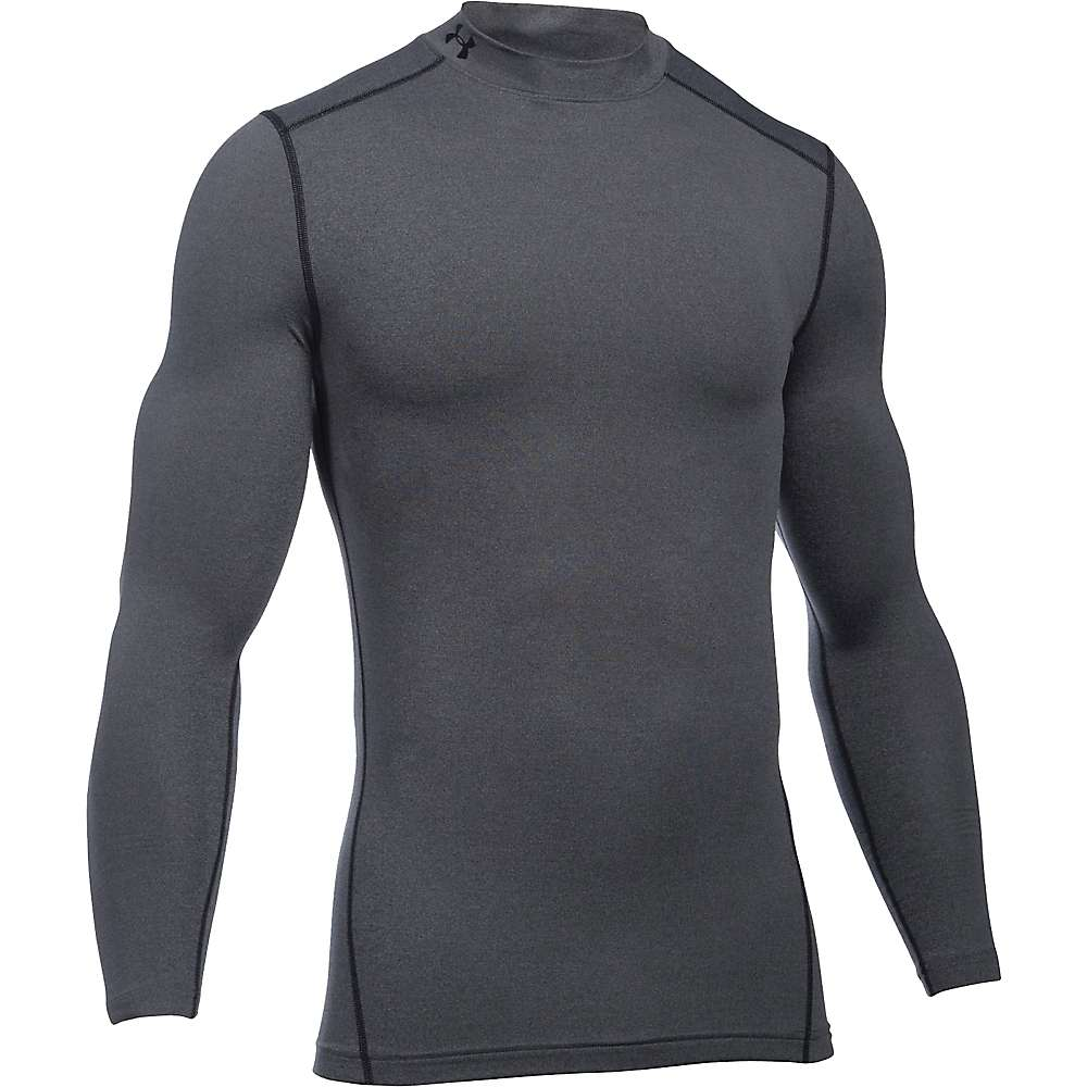 Under Armour Men's UA ColdGear Armour Mock Neck Top - XXL - Carbon Heather / Black