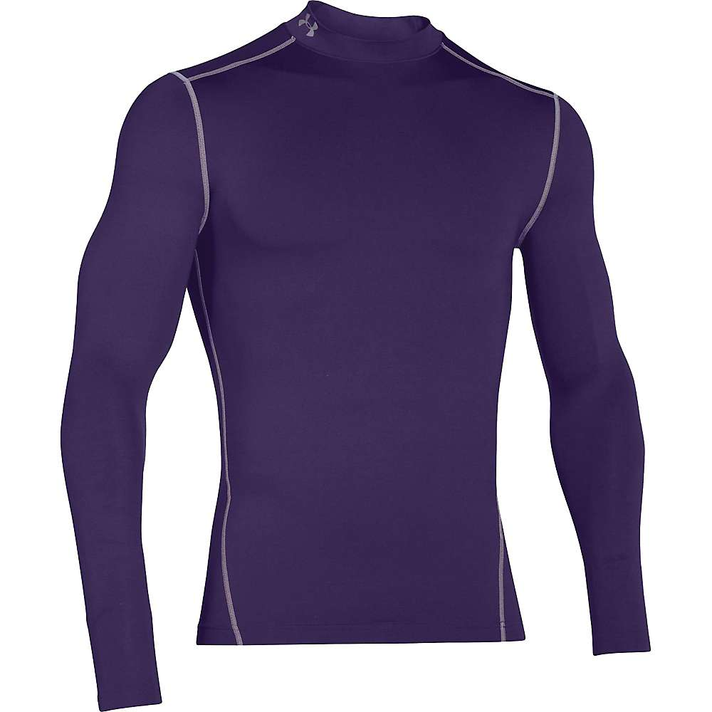 Under Armour Men's UA ColdGear Armour Mock Neck Top - Small - Purple / Steel