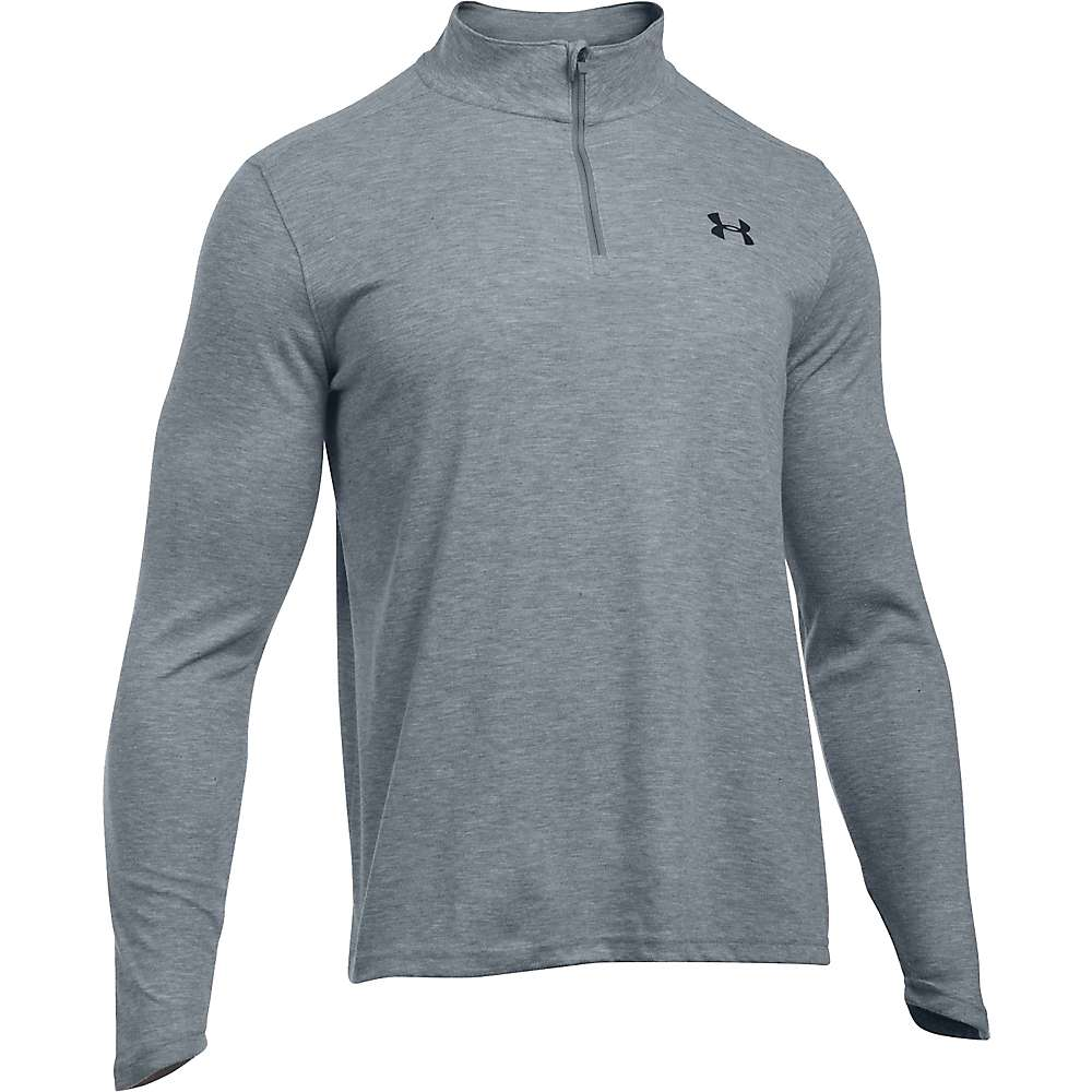 Under Armour Men's UA ColdGear Infrared 1/4 Zip Top - XL - True Gray Heather / Black