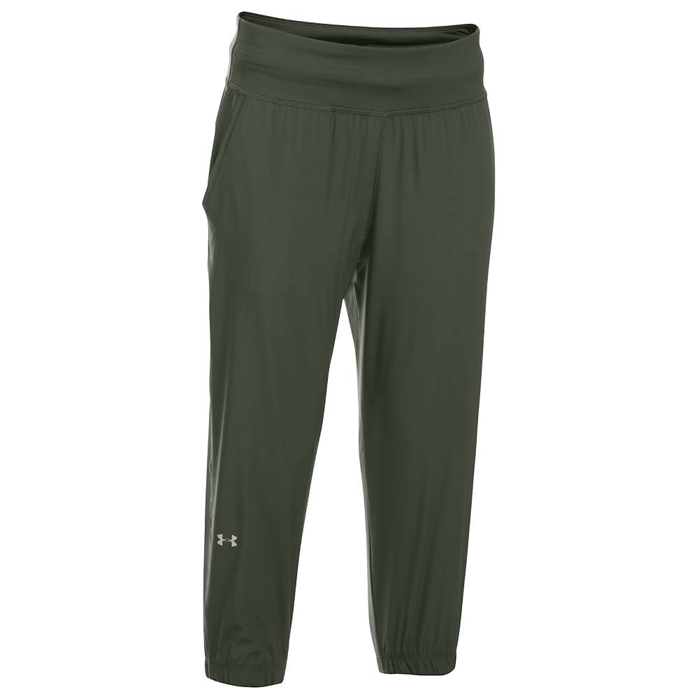Under Armour Women's UA Sunblock Crop Pant - Small - Downtown Green / Metallic Silver
