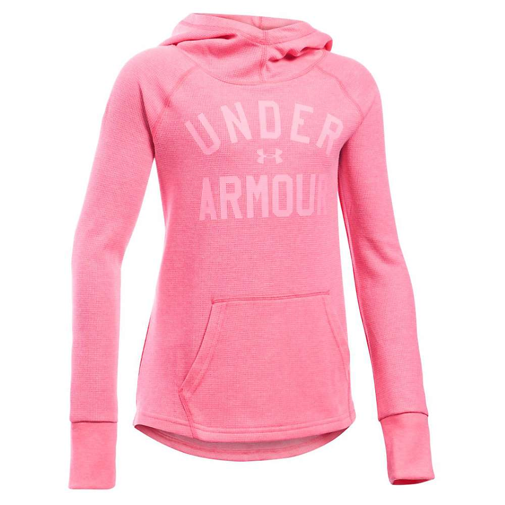 Under Armour Girls' Waffle Hoody - Large - Super Pink / Pink Punk