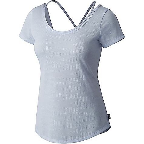 Mountain Hardwear Women's Breeze AC SS Shirt Atmosfear Mountain Hardwear Women's Breeze AC SS Shirt - Atmosfear - in stock now. FEATURES of the Mountain Hardwear Women's Breeze AC Short Sleeve Shirt Wick.Q moisture-wicking keeps you cool and dry All-over perforation Easy-care Modern straps for ease of movement Using centuries old milling techniques Wick.Q EVAP is the industry's leading wicking technology Dispersing moisture so it evaporates more quickly