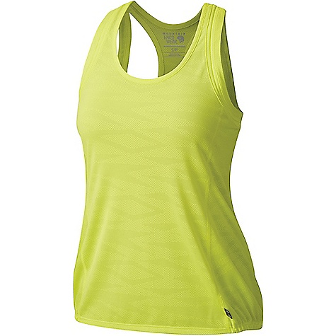 Mountain Hardwear Women's Breeze AC Tank Top Sticky Note Mountain Hardwear Women's Breeze AC Tank Top - Sticky Note - in stock now. FEATURES of the Mountain Hardwear Women's Breeze AC Tank Top Wick.Q moisture-wicking keeps you cool and dry All-over perforation Easy-care Elastic hem detail Modern straps for ease of movement Wick.Q EVAP is the industry's leading wicking technology Dispersing moisture so it evaporates more quickly Unique perforation patterns to deliver optimal airflow where you need it most