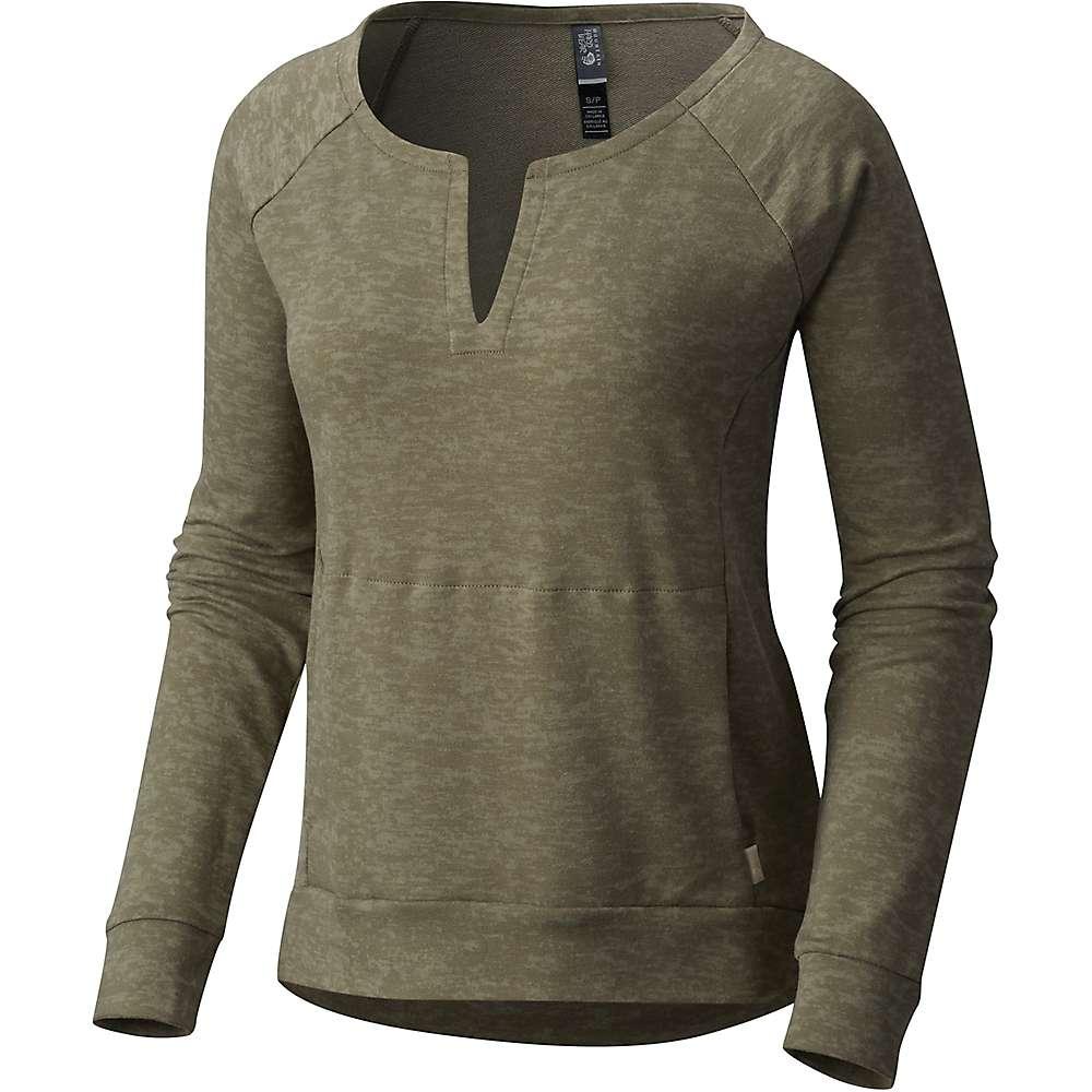 Mountain Hardwear Women's Burned Out LS Shirt - Large - Stone Green