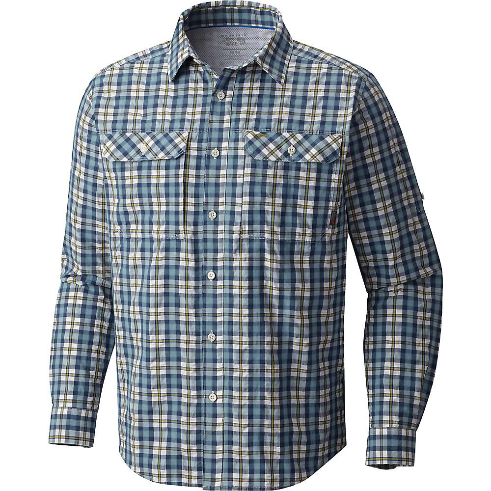 Mountain Hardwear Men's Canyon AC LS Shirt - Medium - Blue Granite