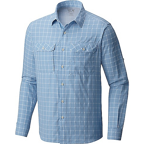 Mountain Hardwear Men's Canyon AC LS Shirt Grey Goose Mountain Hardwear Men's Canyon AC LS Shirt - Grey Goose - in stock now. FEATURES of the Mountain Hardwear Men's Canyon AC Long Sleeve Shirt Engineered perforation Sun collar Roll-up sleeves Unique perforation patterns to deliver optimal airflow where you need it most