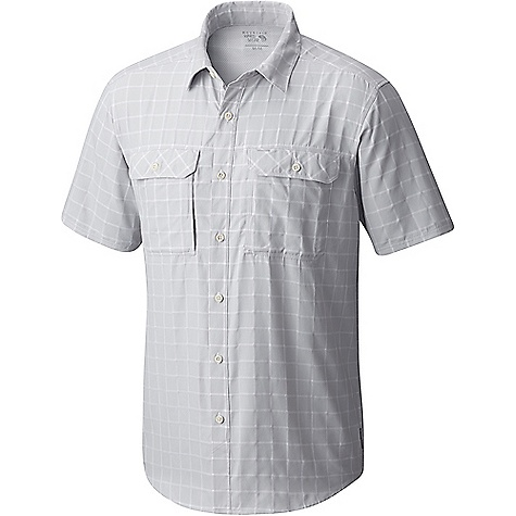 Mountain Hardwear Men's Canyon AC SS Shirt Grey Ice Mountain Hardwear Men's Canyon AC SS Shirt - Grey Ice - in stock now. FEATURES of the Mountain Hardwear Men's Canyon AC Short Sleeve Shirt Engineered perforation Sun collar Unique perforation patterns to deliver optimal airflow where you need it most