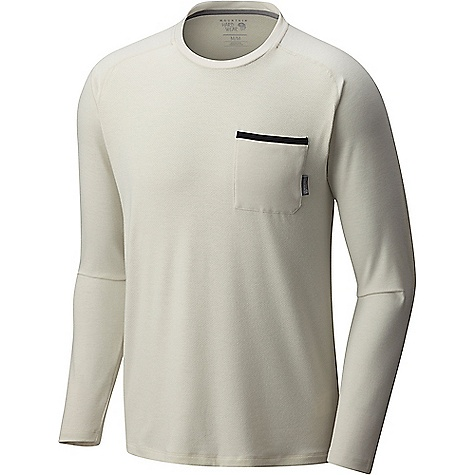 Mountain Hardwear Men's Coolhiker AC LS Tee Stone Mountain Hardwear Men's Coolhiker AC LS Tee - Stone - in stock now. FEATURES of the Mountain Hardwear Men's Coolhiker AC Long Sleeve Tee Wick.Q moisture-wicking keeps you cool and dry Perforated panels Antimicrobial finish Unique perforation patterns to deliver optimal airflow where you need it most Wick.Q EVAP is the industry's leading wicking technology Dispersing moisture so it evaporates more quickly