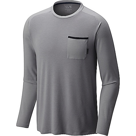 Mountain Hardwear Men's Coolhiker AC LS Tee Manta Grey Mountain Hardwear Men's Coolhiker AC LS Tee - Manta Grey - in stock now. FEATURES of the Mountain Hardwear Men's Coolhiker AC Long Sleeve Tee Wick.Q moisture-wicking keeps you cool and dry Perforated panels Antimicrobial finish Unique perforation patterns to deliver optimal airflow where you need it most Wick.Q EVAP is the industry's leading wicking technology Dispersing moisture so it evaporates more quickly