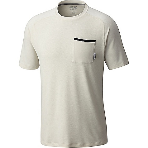 Mountain Hardwear Men's Coolhiker AC SS Tee Stone Mountain Hardwear Men's Coolhiker AC SS Tee - Stone - in stock now. FEATURES of the Mountain Hardwear Men's Coolhiker AC Short Sleeve Tee Wick.Q moisture-wicking keeps you cool and dry Perforated panels Antimicrobial finish Dispersing moisture so it evaporates more quickly Wick.Q EVAP is the industry's leading wicking technology Unique perforation patterns to deliver optimal airflow where you need it most