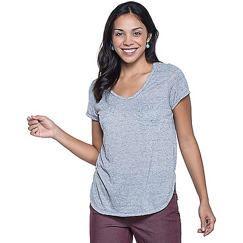 Toad & Co Women's Ember SS Tee Smoke Toad & Co Women's Ember SS Tee - Smoke - in stock now. FEATURES of the Toad & Co Women's Ember Short Sleeve Tee Polygiene odor control No-chafe forward shoulder seams Patch pocket Rounded hem with side vents