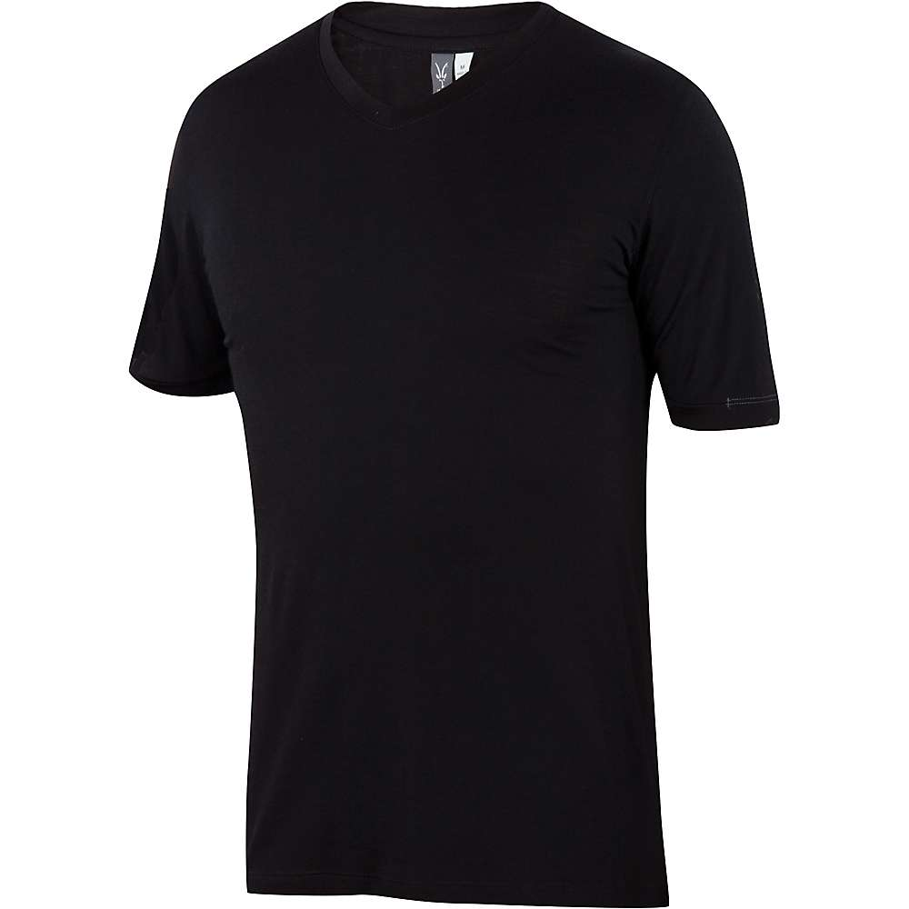 Ibex Men's Essential V-Neck Tee - XL - Black