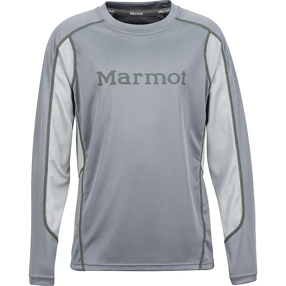 Marmot Boy's Windridge with Graphic LS Jersey - Large - Grey Storm