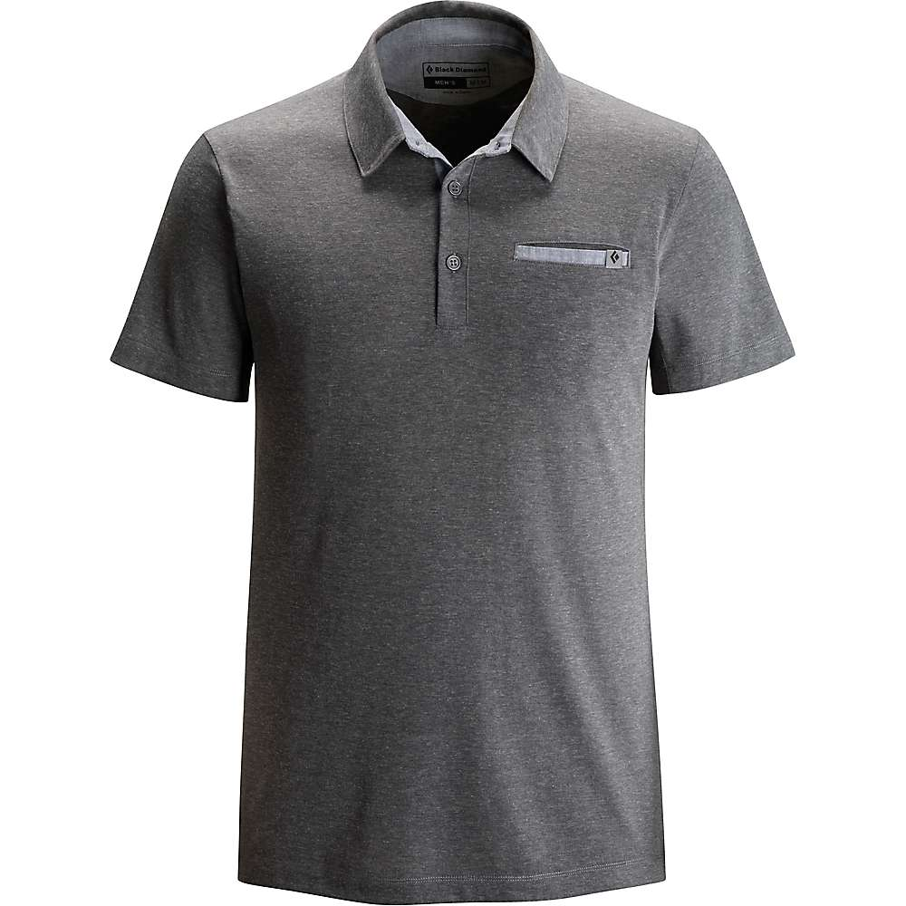 Black Diamond Men's Attitude Polo - Small - Granite