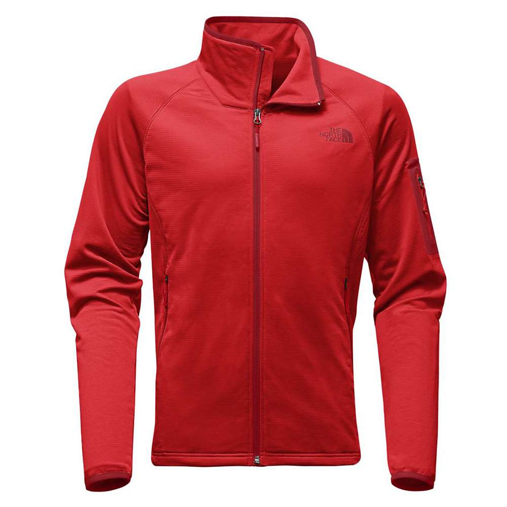 The North Face Men's Borod Full Zip Top - Medium - High Risk Red / Rage Red