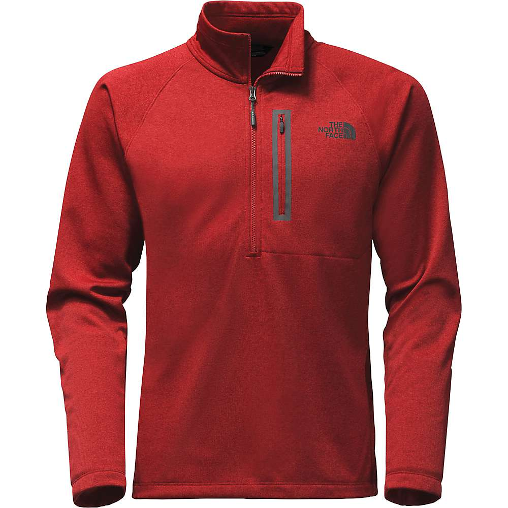 The North Face Men's Canyonlands 1/2 Zip Top - XL - Cardinal Red Heather