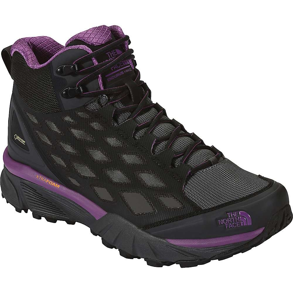 The North Face Women's Endurus Hike Mid GTX Shoe - 7 - Phantom Grey / Wood Violet
