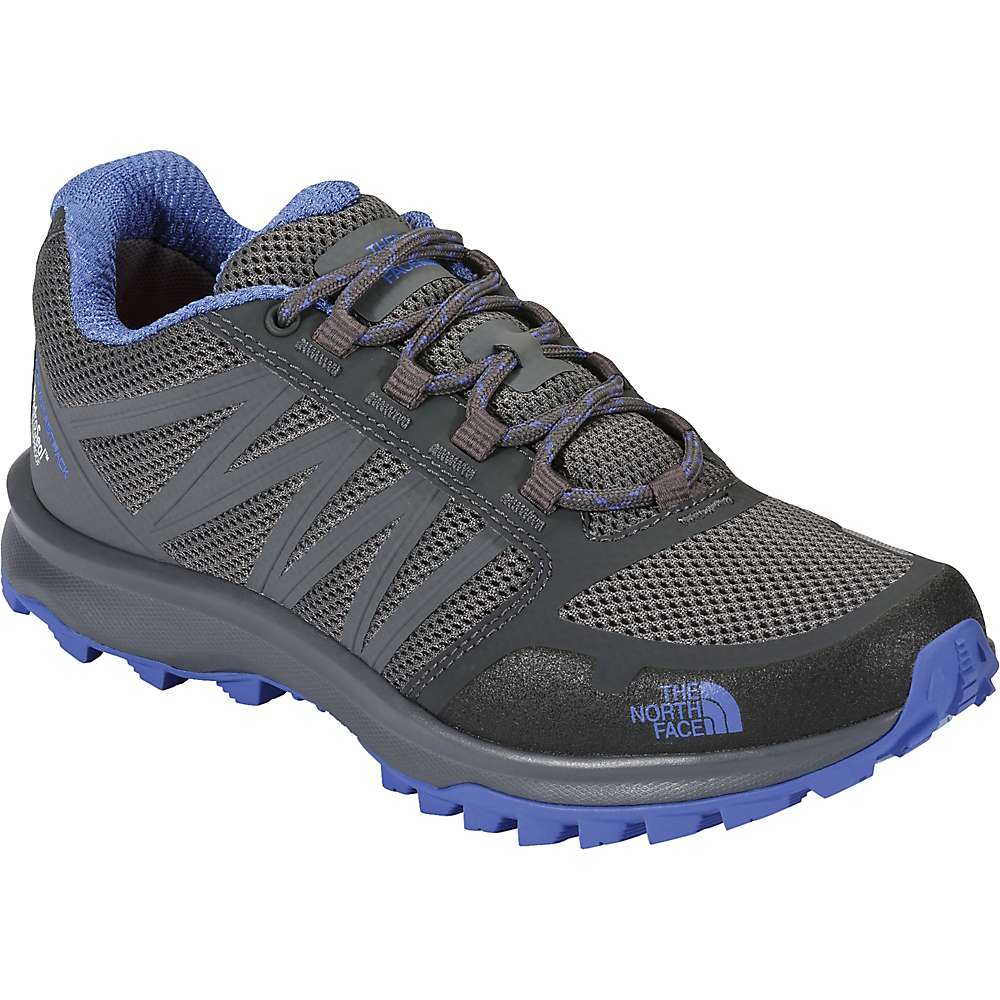 The North Face Women's Litewave Fastpack Waterproof Shoe - 6 - Zinc Grey / Amparo Blue
