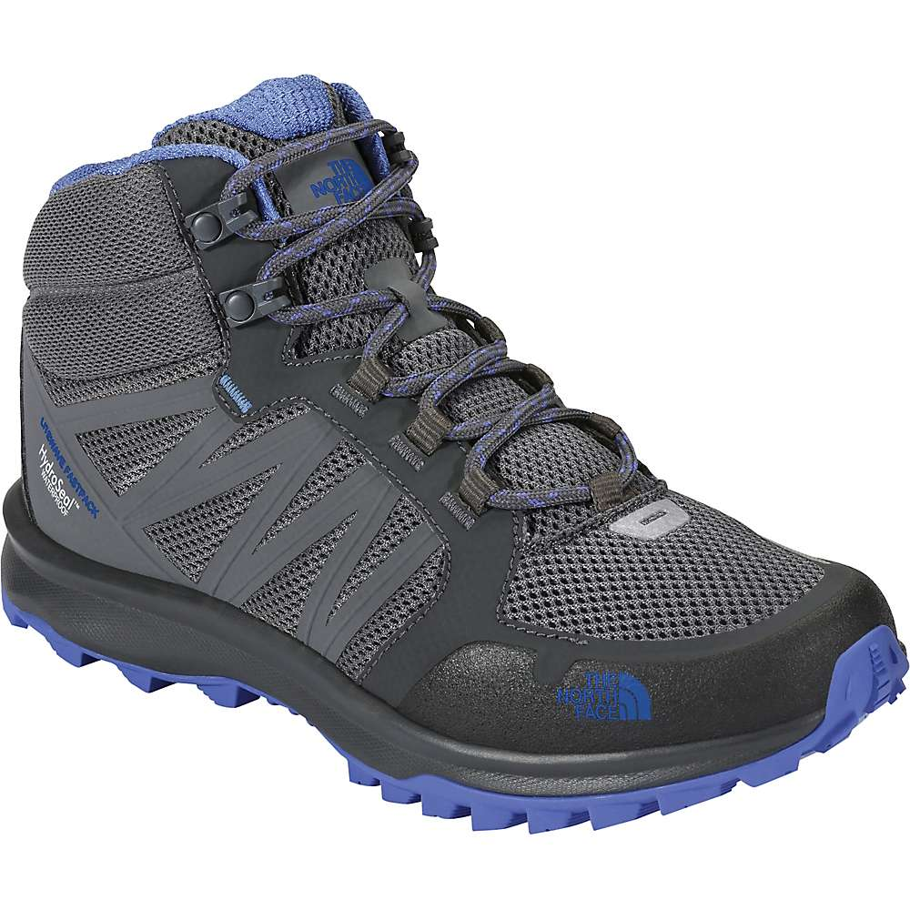 The North Face Women's Litewave Fastpack Mid Waterproof Shoe - 6 - Zinc Grey / Amparo Blue