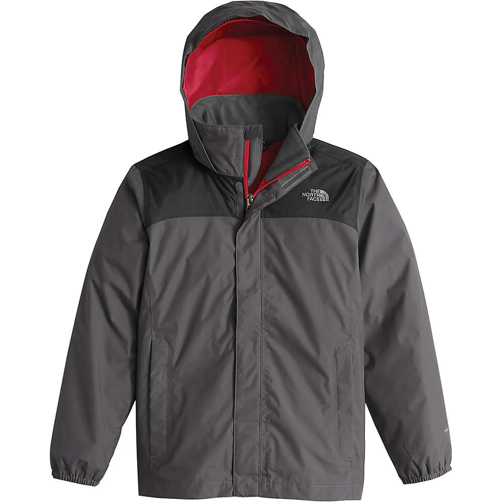 The North Face Boys' Resolve Reflective Jacket - Large - Graphite Grey