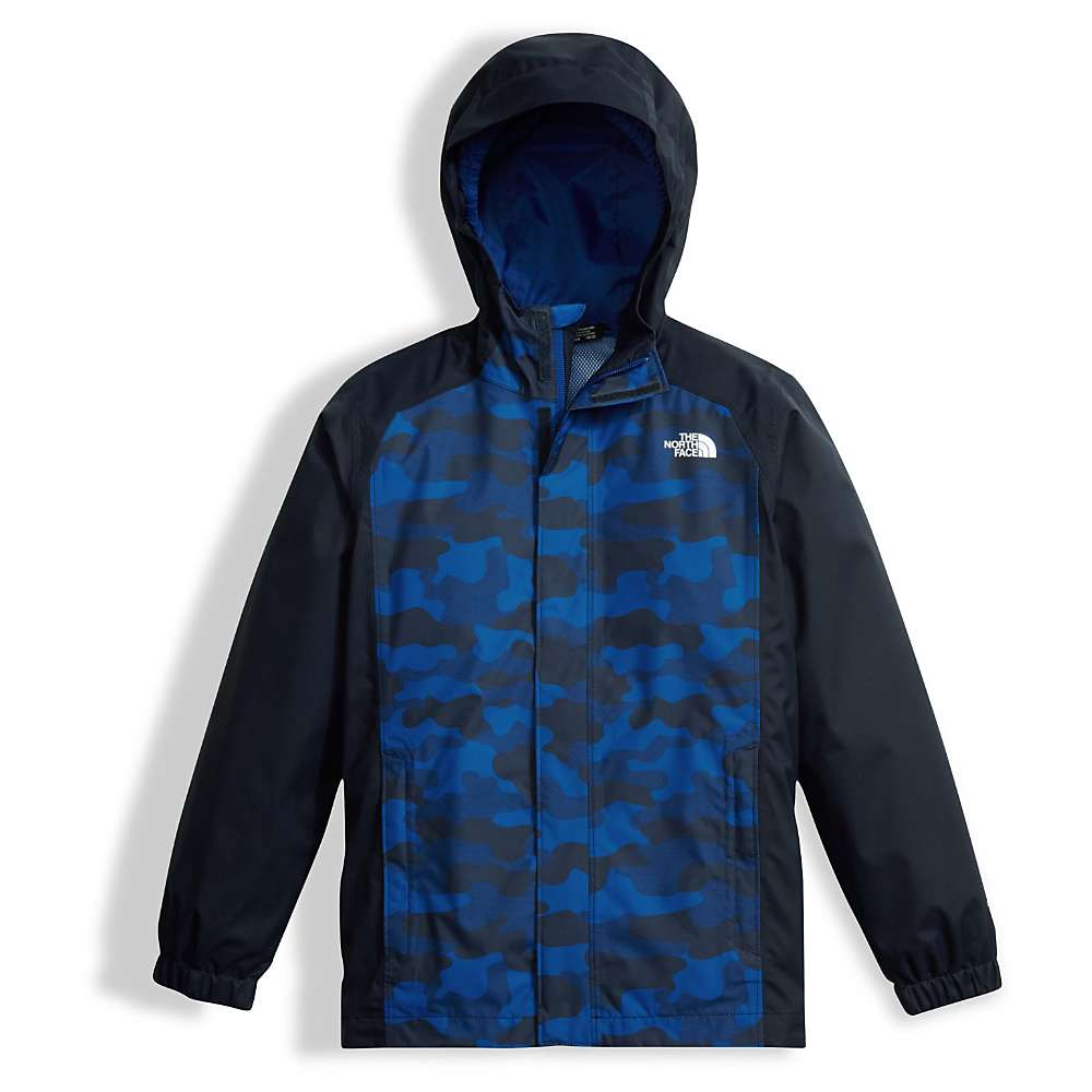 The North Face Boys' Resolve Reflective Jacket - Large - Cosmic Blue Camo Heather Print