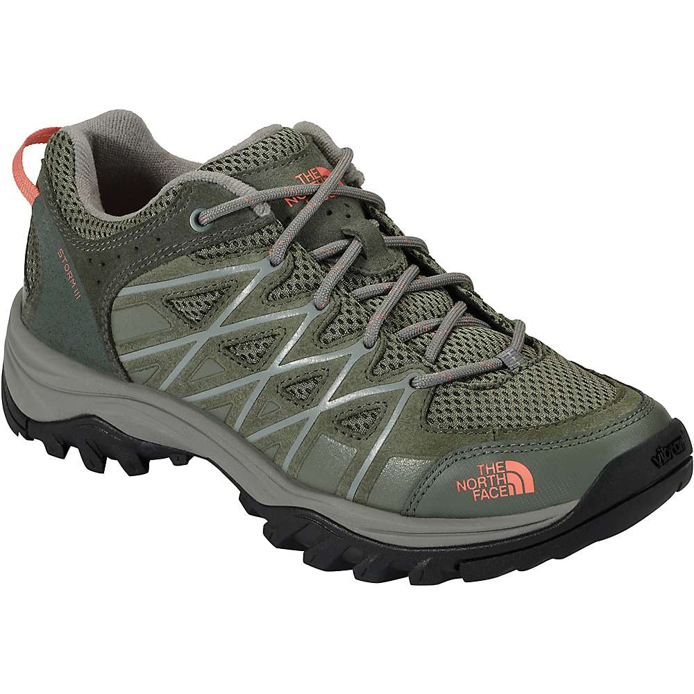 The North Face Women's Storm III Shoe - 7 - Deep Lichen Green / Feather Orange