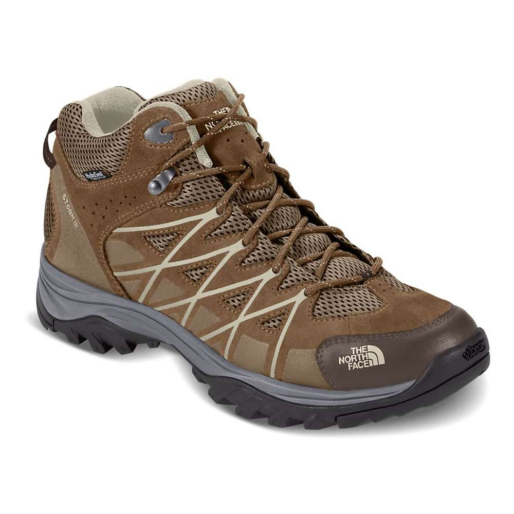 The North Face Men's Storm III Mid Waterproof Shoe - 8 - Weimaraner Brown / Shroom Brown