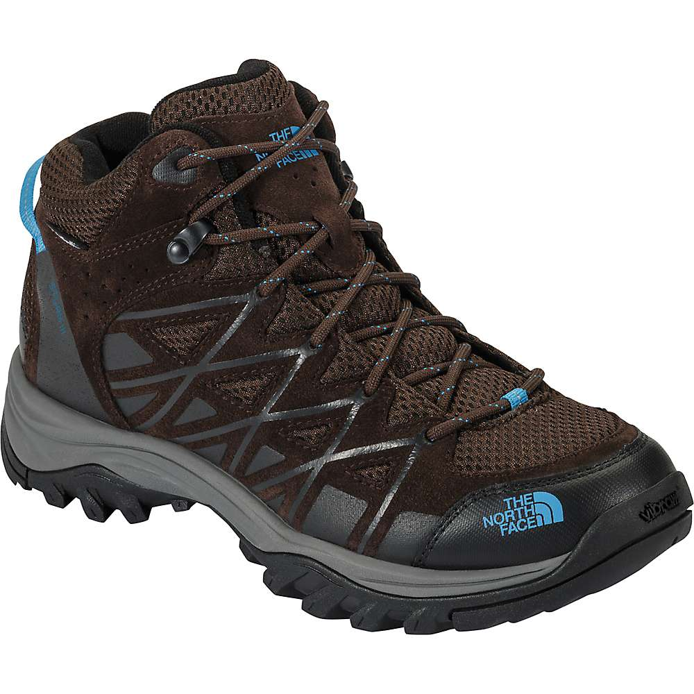 The North Face Women's Storm III Mid Waterproof Shoe - 9 - Demitasse Brown / Hyper Blue