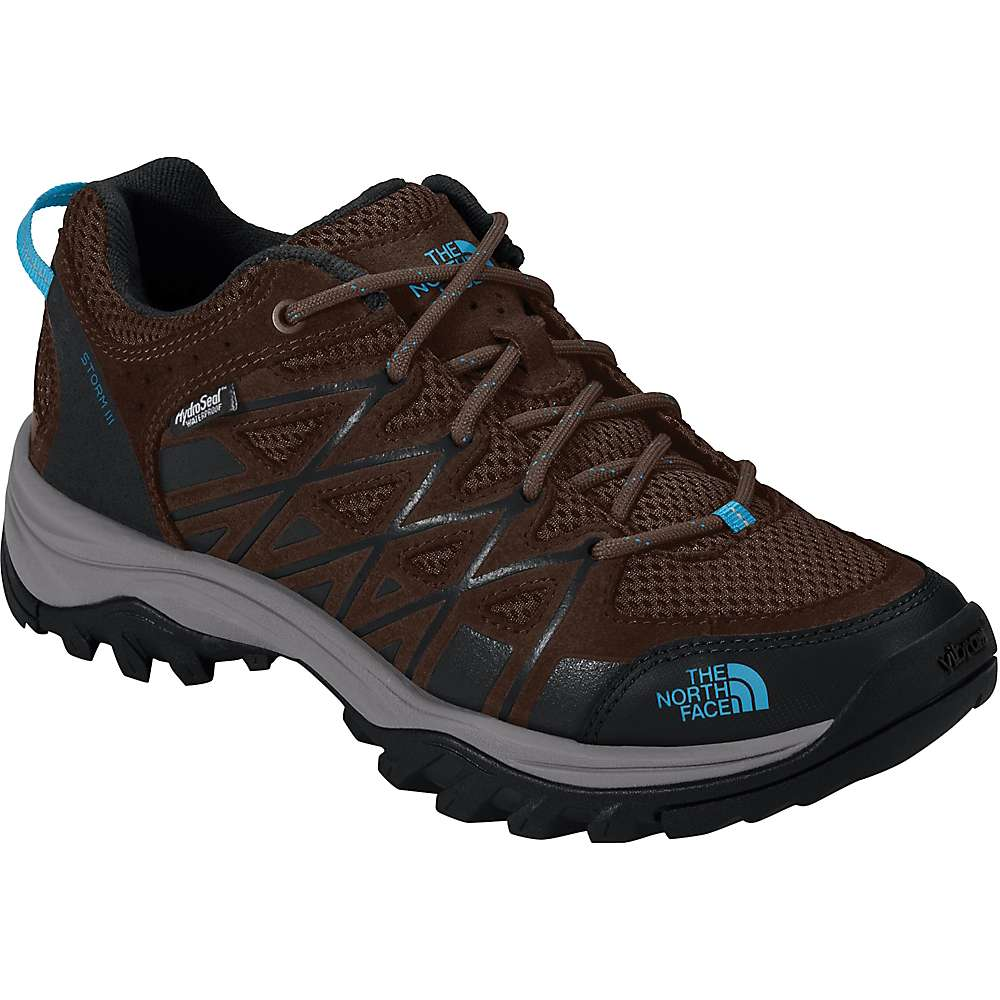 The North Face Women's Storm III Waterproof Shoe - 6.5 - Demitasse Brown / Hyper Blue