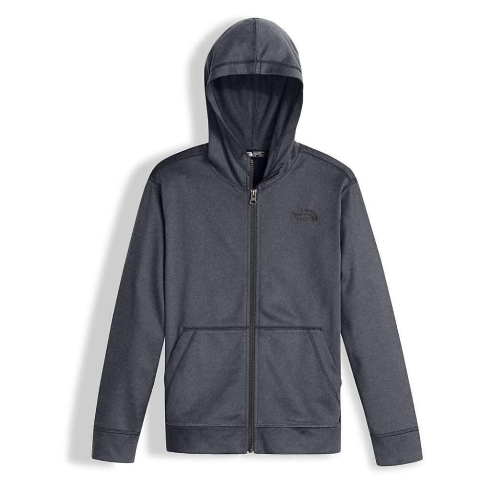 The North Face Boys' Tech Glacier Full Zip Hoodie - XL - TNF Medium Grey Heather / Graphite Grey