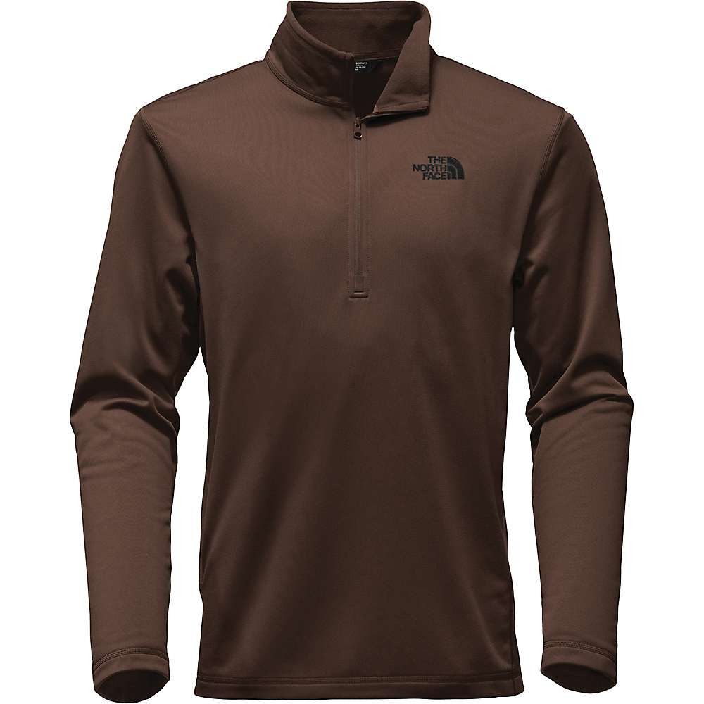 The North Face Men's Tech Glacier 1/4 Zip Top - XXL - Coffee Bean Brown