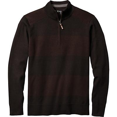 Smartwool Kiva Ridge Stripe Half Zip Sweater - Sumatra Heather - Men