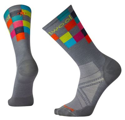 Smartwool PhD Run Ultra Light Logo Crew Sock - Medium - Graphite
