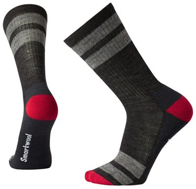 Smartwool Striped Hike Light Crew Sock - XL - Charcoal
