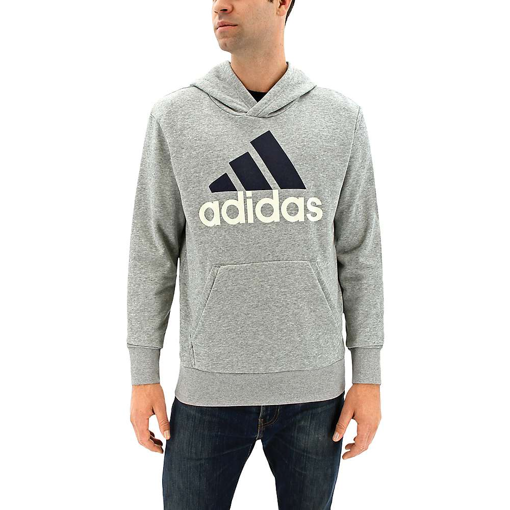 Adidas Men's Essentials Linear Pull-Over - Small - Medium Grey Heather