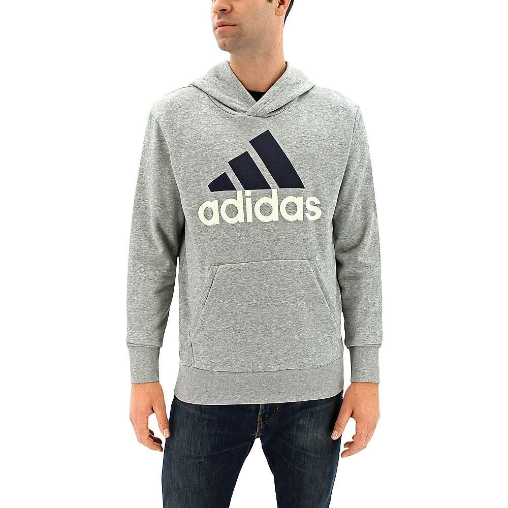 Adidas Men's Essentials Linear Pull-Over - Medium - Medium Grey Heather