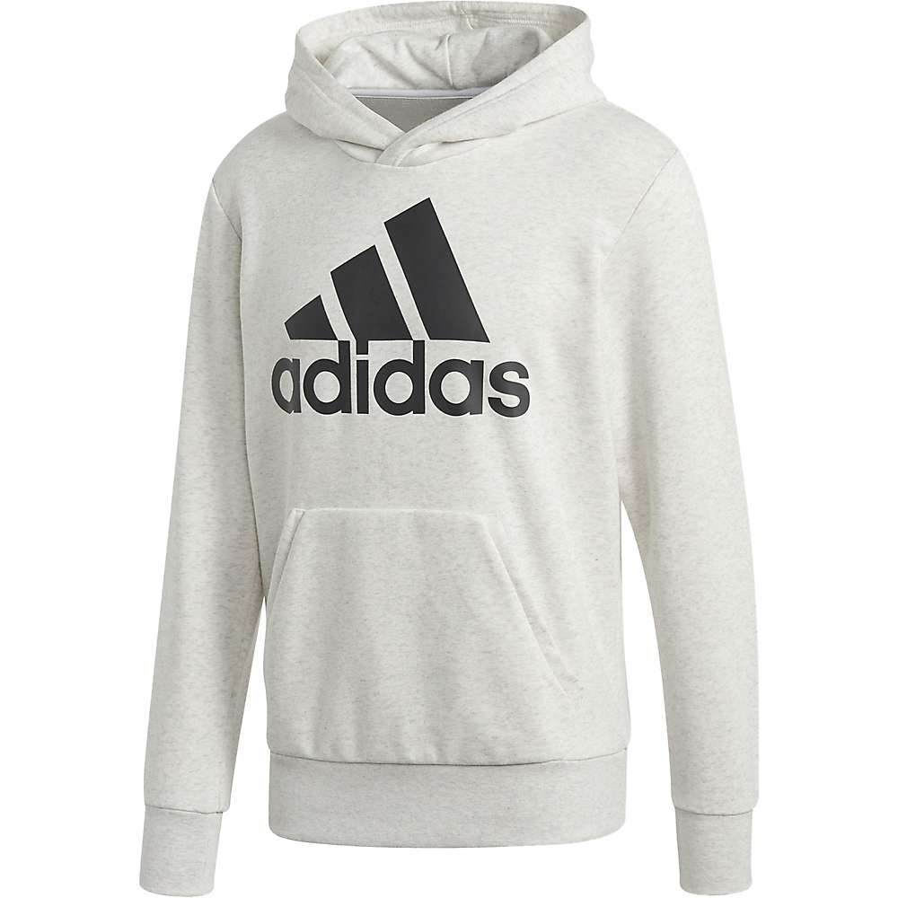 Adidas Men's Essentials Linear Pull-Over - Large - White Melange