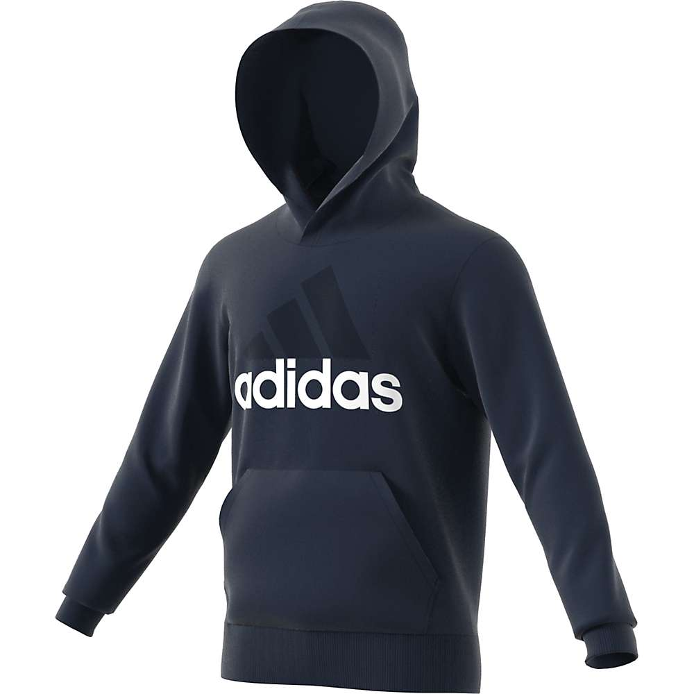 Adidas Men's Essentials Linear Pull-Over - Small - Collegiate Navy / White
